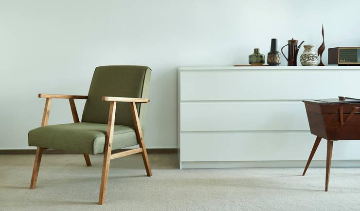Klassischer Sessel 60er Jahre:  Wohnzimmer von POLITURA Polsterei & Design