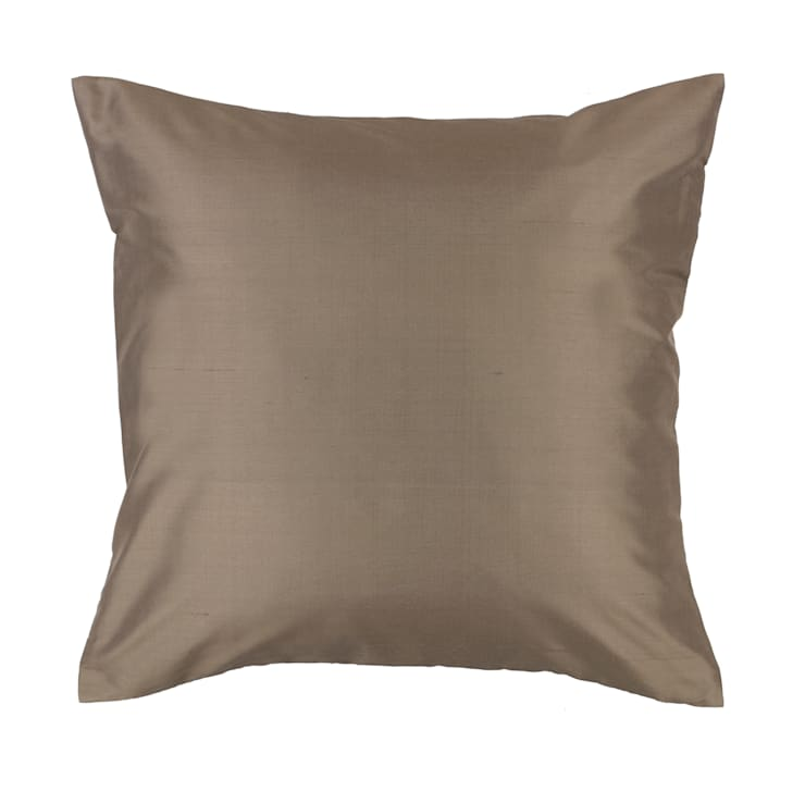 Classic Charcoal Handmade Silk Cushion:  Living room by Le Cocon