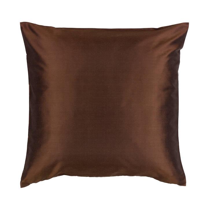 Classic Mocha Silk Cushion:  Living room by Le Cocon