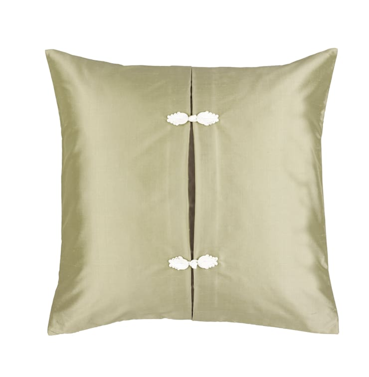 Asiatque Celadon Handmade Silk Cushion:  Living room by Le Cocon