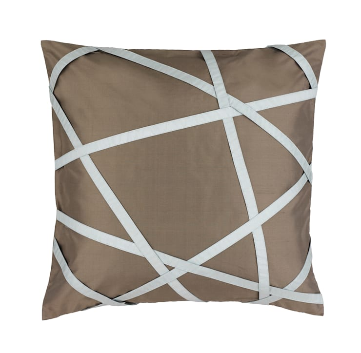 Tres Chic Charcoal Handmade Silk Cushion:   by Le Cocon