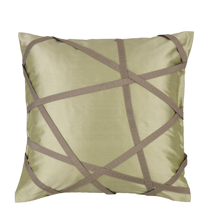 Tres Chic Celadon Handmade Silk Cushion:   by Le Cocon