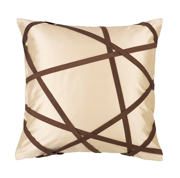 Tres Chic Ivory Handmade Silk Cushion:   by Le Cocon