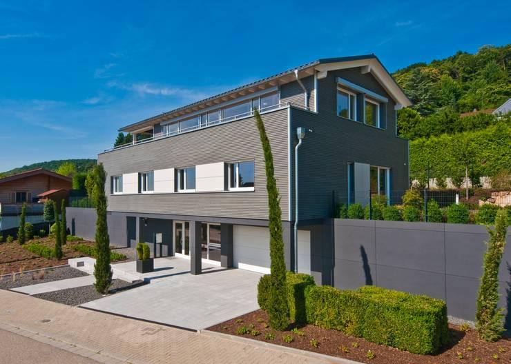 Außenaufnahme: moderne Fenster & Tür von Bau-Fritz GmbH & Co. KG