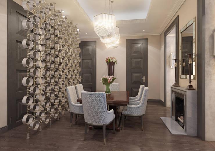 Апартаменты TriBeCa в стилистике Ар Деко: Столовые комнаты в . Автор – Anna Clark Interiors, Классический