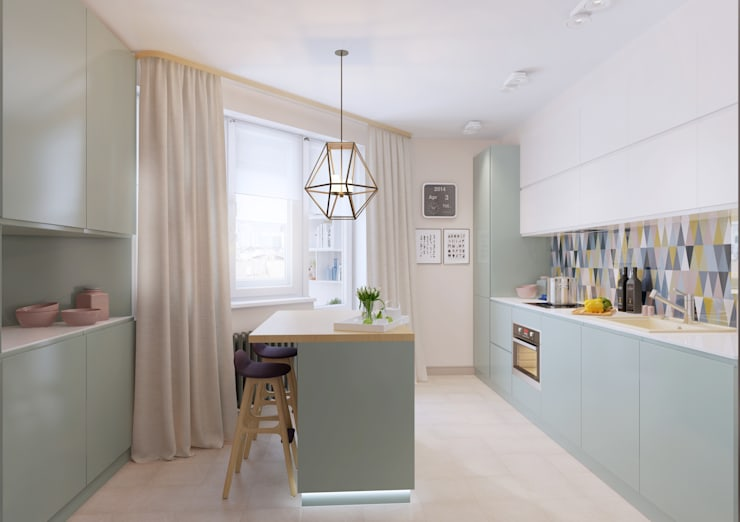 Cocinas de estilo escandinavo de Anna Clark Interiors