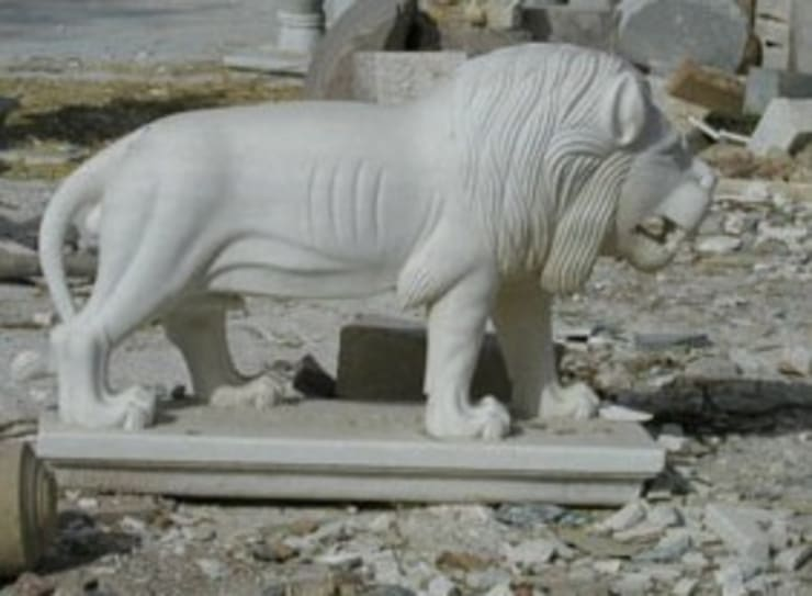 Stone Animals : Lion/Tiger:  Artwork by G.K. Corp