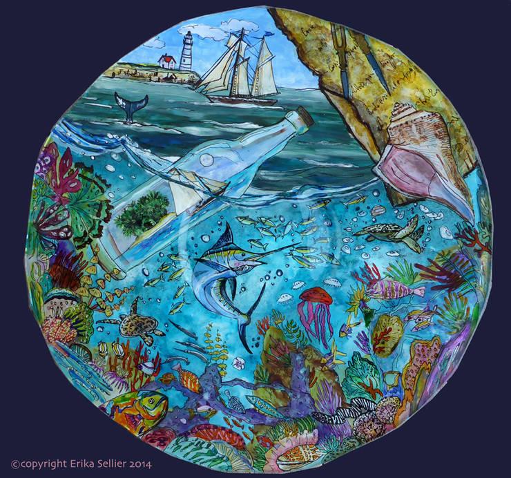 une bouteille à la mer: Art de style  par ERIKA SELLIER Créations