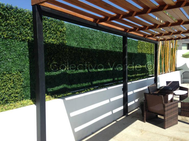 Follaje Sintético: Jardines de estilo  por Colectivo Verde