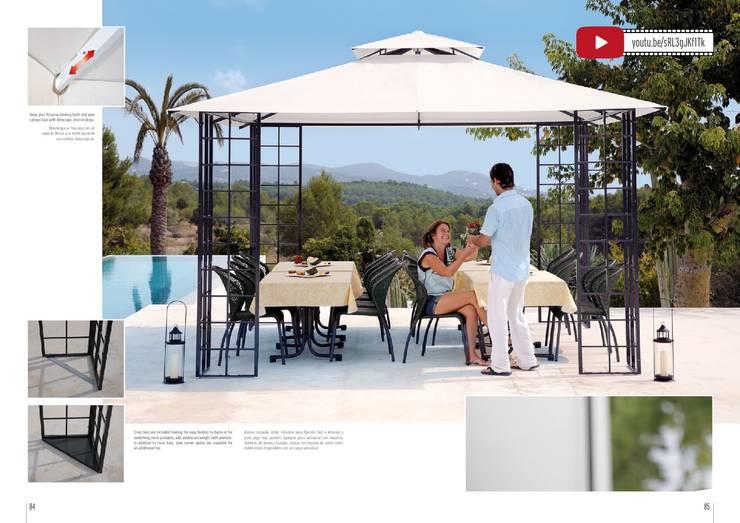 Balcones y terrazas de estilo moderno por DISTRIBUCIONES/JP