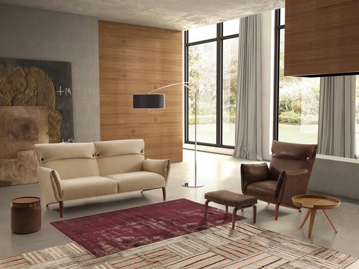 GOIA sofá y butaca: Salones de estilo  de BELTÁ & FRAJUMAR