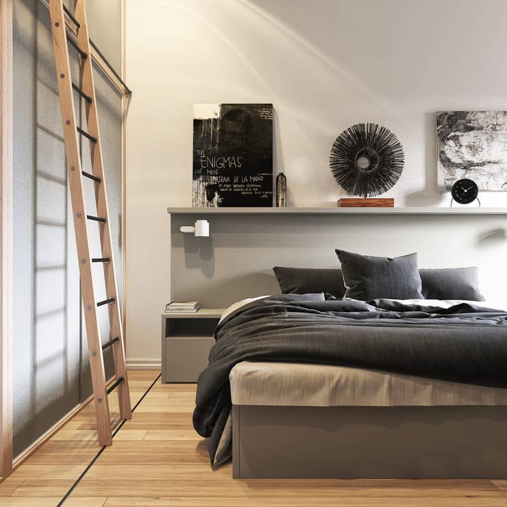 спальные комнаты: Спальни в . Автор – sreda