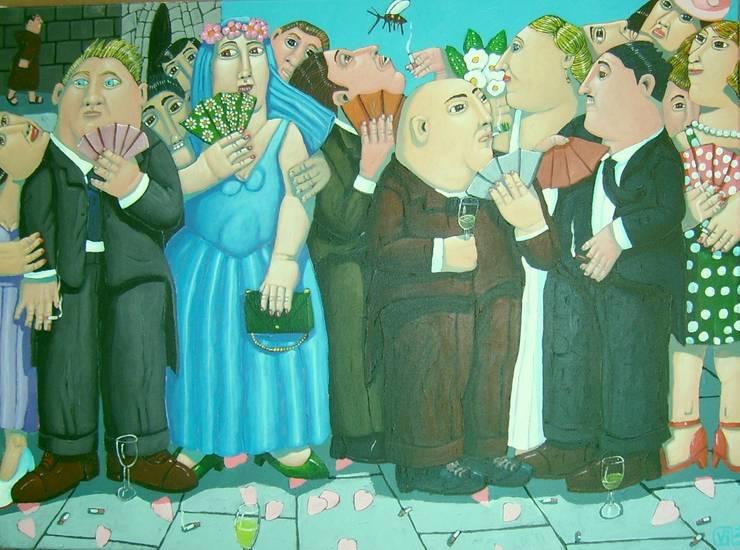 """Boda al pi"" 73 x 54cm:  de style  par Peintre Blanchard"