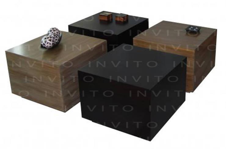 Mesa de Centro Cubos: Salas de estilo  por INVITO