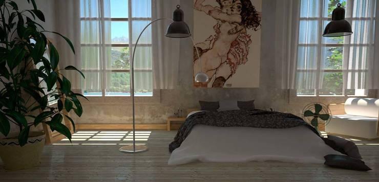 Dormitorio_ibu3d: Dormitorios de estilo  de Ibu 3d