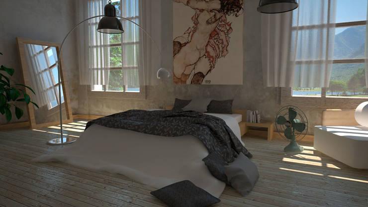 Dormitorio: Dormitorios de estilo  de Ibu 3d