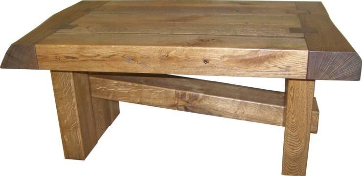 """""""Ein starkes Stück Natur"""" - Couchtisch: rustikale Wohnzimmer von Holz-Design Schlichter"""