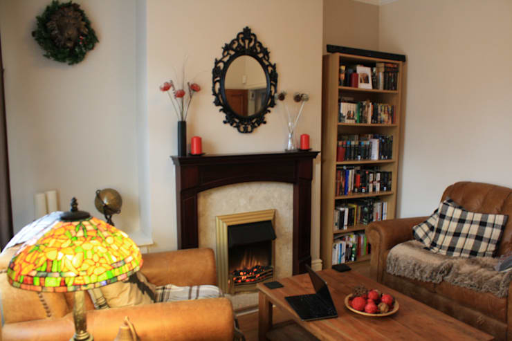 before:  Living room by Girl About The House