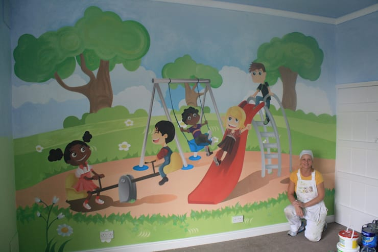 after mural:  Nursery/kid's room by Girl About The House