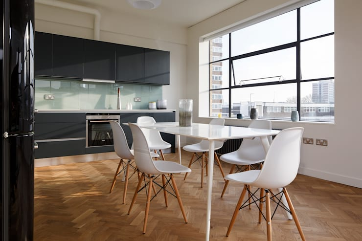 Drakes Headquarters, 76 East Road—Residential Flats:  Kitchen by Hawkins/Brown