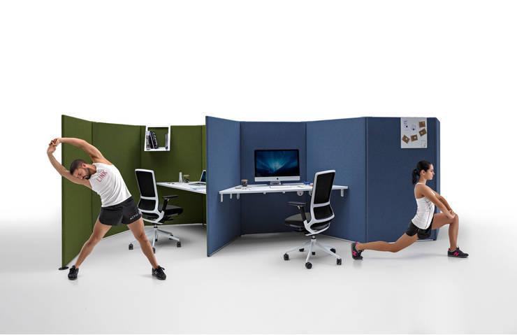 LINK Dock Sytems by ITEMdesignworks: Oficinas y tiendas de estilo  de Actiu