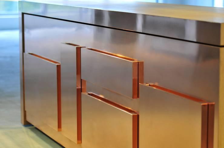 semplice copper:  in stile  di strato cucine, Minimalista