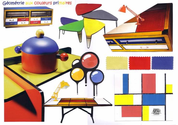 Mondrian Art: Jardin de style  par APPART-DECOHOME