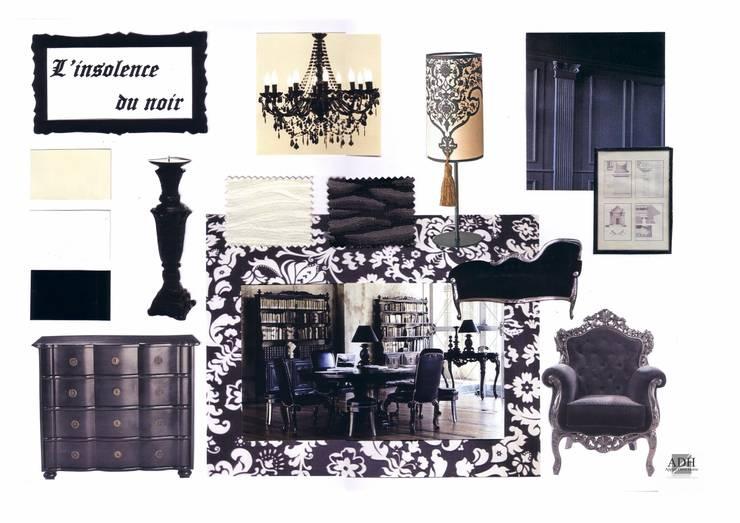 Baroque noir et blanc: Jardin de style  par APPART-DECOHOME