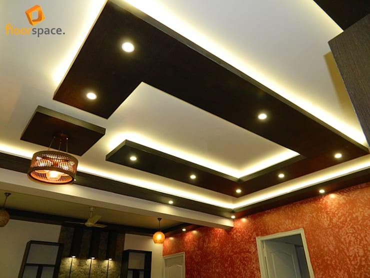 Project Signature - Splendid Ceilings:  Living room by Floorspace