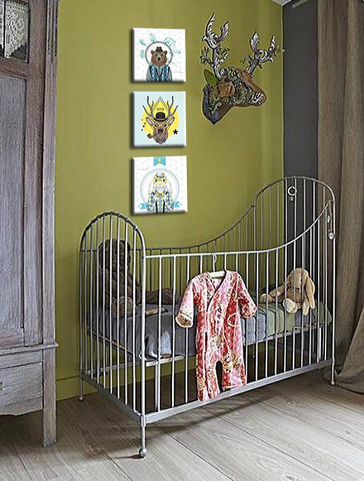 """TAbleau banbin """"HIPSTER"""": Chambre d'enfants de style  par BY PIXELLISE"""