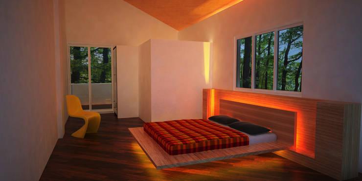 Week end Bungalow:   by Pankaj Mhatre Architects.