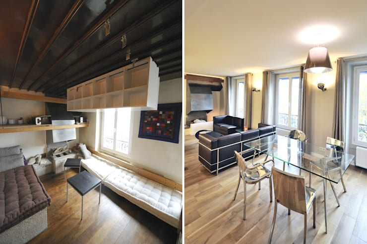 Appartement 3 pièces 65m2:  de style  par Créateurs d'interieur