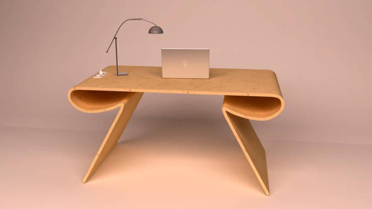 Escritorio de madera, Ibu3D: Estudio de estilo  de Ibu 3d