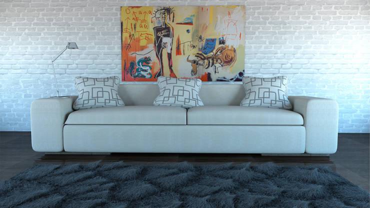 Sofa, Ibu3D: Salones de estilo  de Ibu 3d