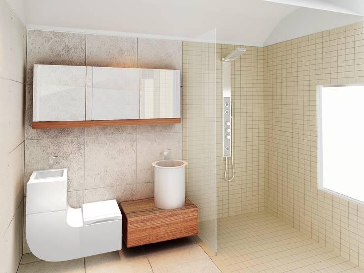 Baño para vivienda en Madrid:  de estilo  de Icaras 3D