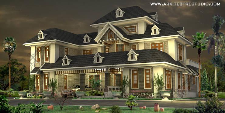 kerala style luxury home designs by Arkitecture studio:   by Arkitecture studio,Architects,Interior designers,Calicut,Kerala india