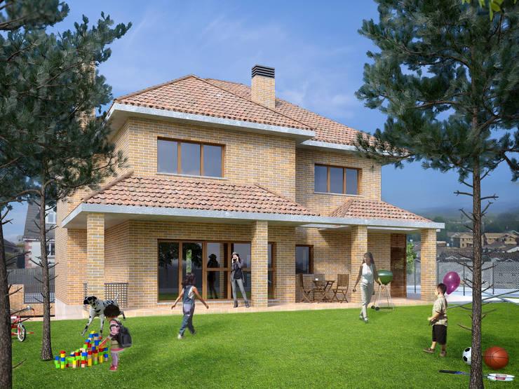 Jardín 3D vivienda:  de estilo  de Icaras 3D