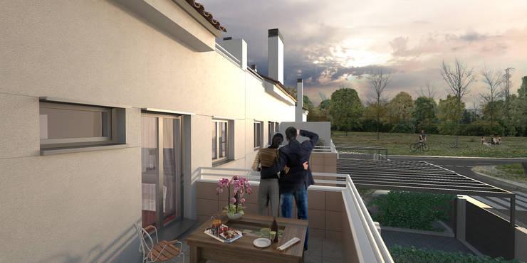 Imagen 3D Terraza:  de estilo  de Icaras 3D