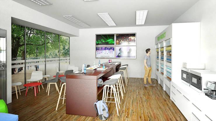 Cafetería 3D para facultad:  de estilo  de Icaras 3D