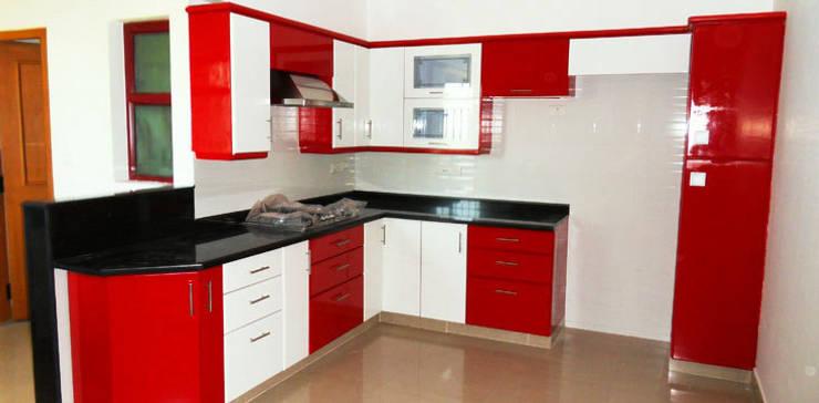 modular kitchen :  Kitchen by RISING STAR STEEL INDUSTRIES