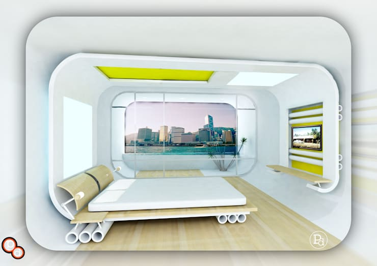 Bedroom design ----Inspired from skating:  Bedroom by Preetham  Interior Designer