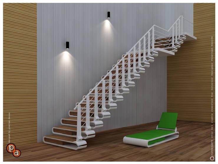 Staircase design--- Nail Cutter:  Corridor & hallway by Preetham  Interior Designer