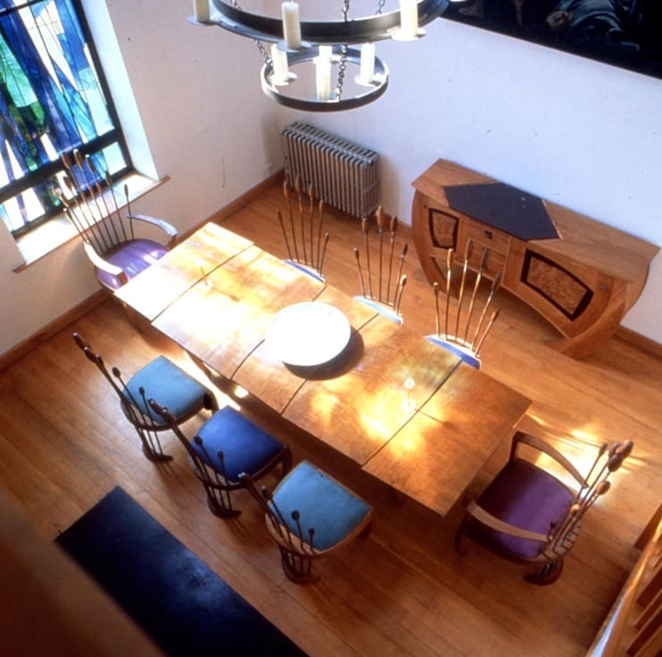 Oak dining set, 'Swamp suite':   by David Arnold Design