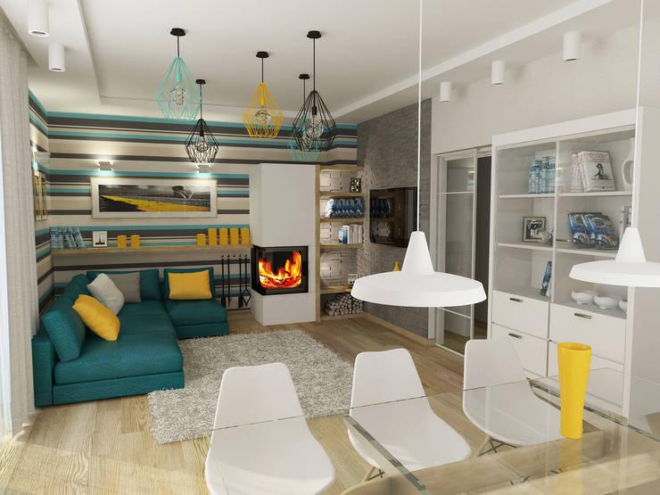 Wohnzimmer :  Wohnzimmer von NK-Line I Natascha Kuzmenko I Modernes Interior Design