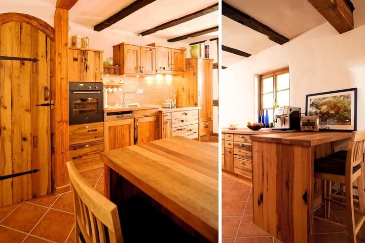 Altholzküche Eiche:  Küche von Pfister Möbelwerkstatt GdbR,Ausgefallen