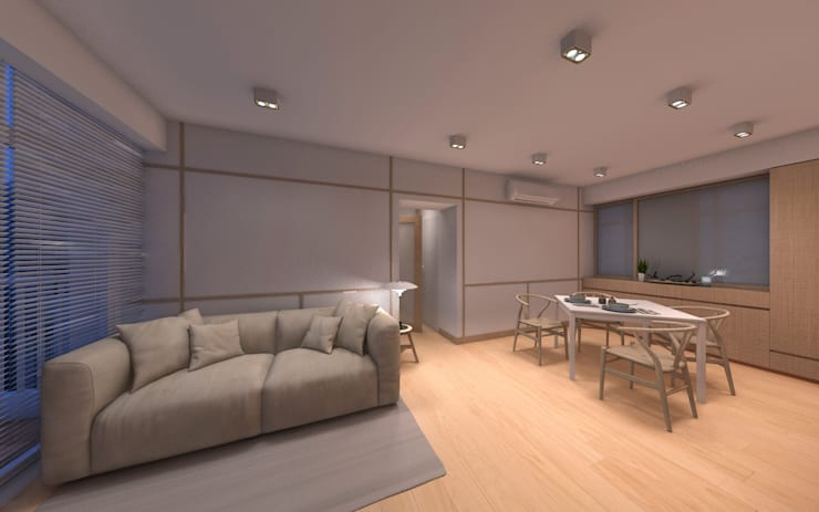 Living room by arctitudesign