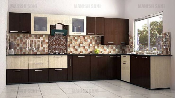 kitchen done by us in new residential flat in a appartment:  Kitchen by SHIVA TRADERS
