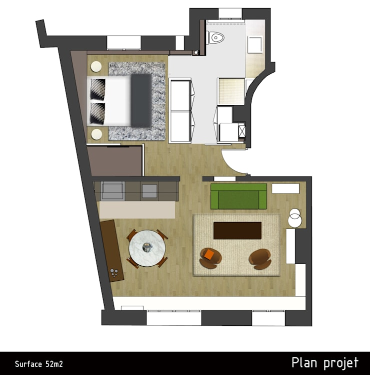 Rénovation appartement parisien 52m2:  de style  par Miaow Design