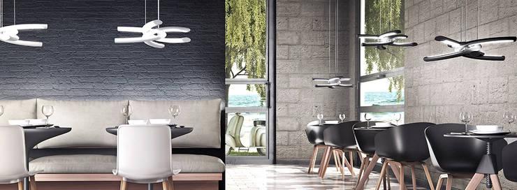 Lámpara KNOT: Salones de estilo  de Santiago Sevillano Industrial Design