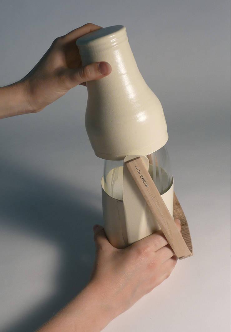[Re]lait – Le design au service du lait cru: Cuisine de style  par L'Accent du m